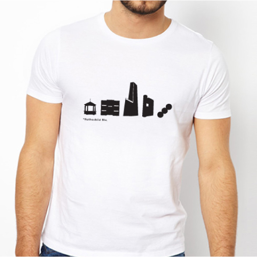 TLV City Icon T-shirt T-shirt Prints Icon design, t-shirt design A limited edition of Tel Aviv city icons T-shirts, now available for sale in selected shops in Tel Aviv, and at the studio new online shop! Design Shop by Dan Michman, Graphic designer, branding, brochures, posters, catalogs, books, corporate identity, Internet and web design. עיצוב גרפי, מיתוג, פרינט, מדיה דיגיטלית, אריזות, עיצוב לוגו, קטלוגים, ספרים