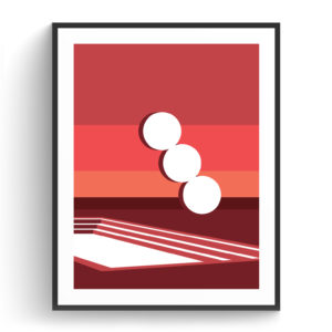 Graphic design for a poster and vector illustration print of Tel Aviv Habima square. Designed as a series of graphic design illustrations posters and prints of abstract Tel Aviv landmarks